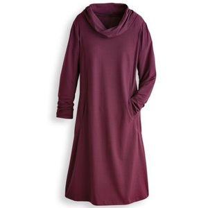 Blair Maroon Cassia Scoop Pocket Dress